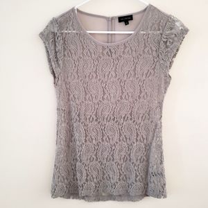 Beautiful Lace Blouse, The Limited, Grey